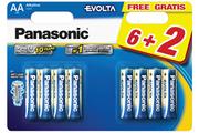 Pile Panasonic LR06 AA 6+2