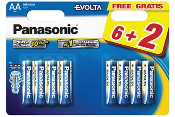 Pile LR06 AA 6+2 Panasonic