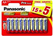Pile Panasonic LR06 AA 15+5 PRO POWER
