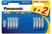 Pile Panasonic LR03 AAA 6+2 EVOLTA