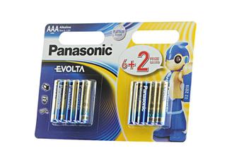 Pile LR03 AAA 6+2 EVOLTA Panasonic