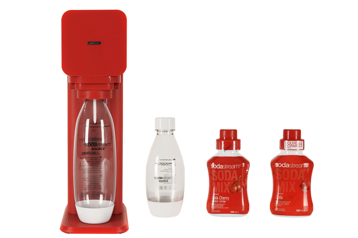 machine a soda sodastream fizz rouge