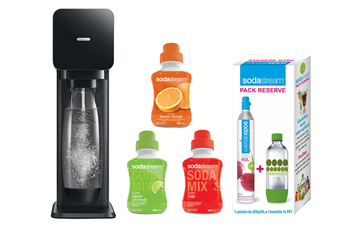 Machine soda PLAY N + 3 CONCENTRES + PACK RESERVE Sodastream