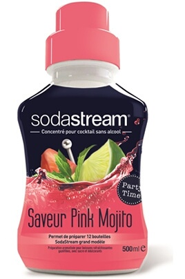 Machine à soda et eau gazeuse Sodastream Saveur PINK MOJITO