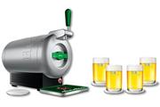 Pompe a biere Krups YY2837FD THE SUB METAL AVEC COFFRET 4 VERRES ET 5 SOUS BOCK FOURNIS