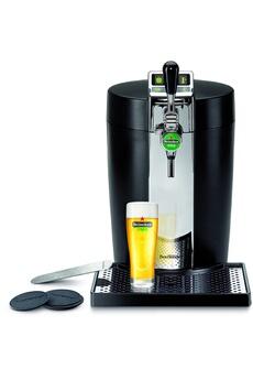 Pompe a biere Krups BEERTENDER NOIR ET METAL YY2932FD