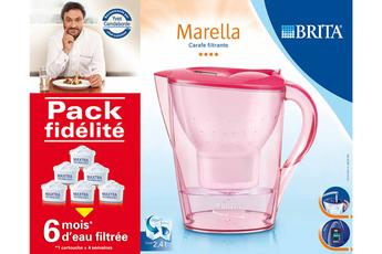 Carafe filtrante PACK MARELLA ROUGE + 6 CARTOUCHES Brita