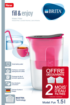 Carafe filtrante PACK FUN ROSE Brita