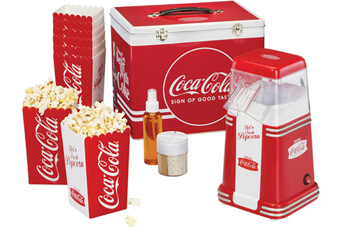Machine pop corn CC650 MALETTE KIT POP CORN COCA COLA Simeo