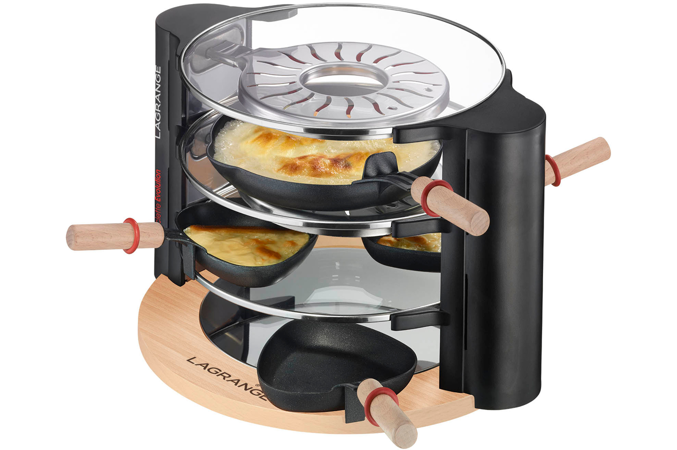 Raclette lagrange raclette evolution 4038436 darty for Appareil convivial
