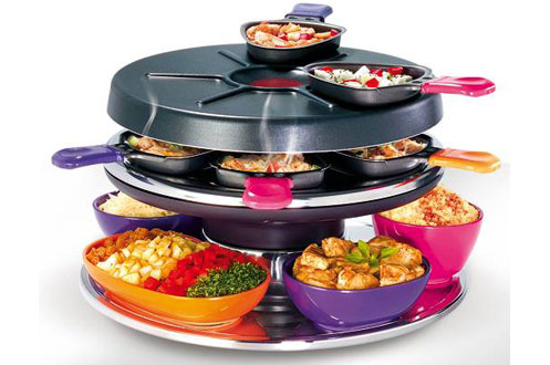 raclette tefal re591012 cook party 3149161. Black Bedroom Furniture Sets. Home Design Ideas