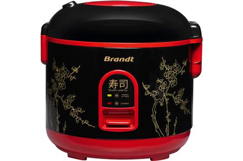 Cuiseur à riz 1,2 litre Capacité 800 g de riz Maintien au chaud automatique - Température réglable Fournis : kit de moules, accessoires pour makis, natte en bambou, panier vapeur, livre de recettes