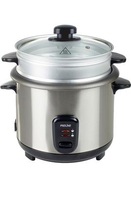 Cuiseur à riz 1,8 litre Panier vapeur externe Fournis : cuillère, bol mesureur en plastique, panier vapeur