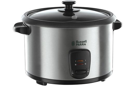 Cuiseur à riz et céréales 1,8 litre - Jusqu'à 10 personnes Cuisson et maintien au chaud automatiques Cuve amovible anti-adhésive Panier vapeur