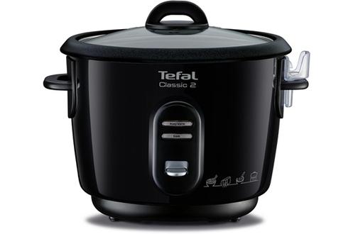 Cuiseur à riz 3 litres - Capacité 0,9 kg Cuve amovible anti-adhésive Fonction maintien au chaud Fournis : verre doseur, spatule, panier vapeur
