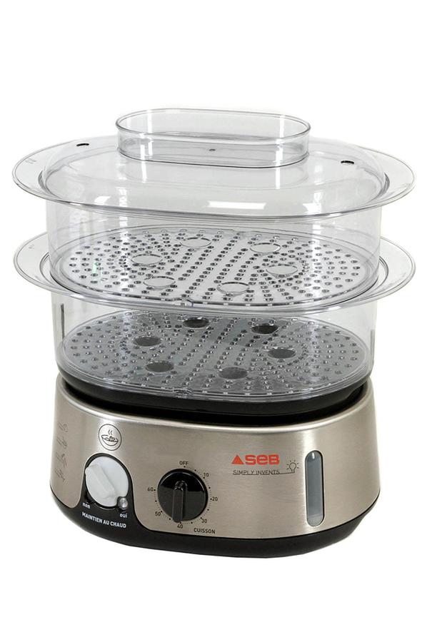 Cuiseur vapeur seb vc101501 invent silver vc101501 - Cuit vapeur inox pour gaz ...