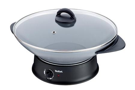 mijoteur tefal wk302013 compact wok fondue darty. Black Bedroom Furniture Sets. Home Design Ideas