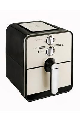 Capacité 0,6 kg de frites fraîches - Sans huile Thermostat réglable de 80 à 200° Minuterie 60 minutes - Parois froides Cuve et panier amovibles