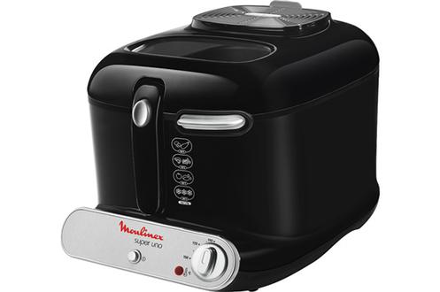 Capacité huile 2 litres - Capacité frites fraîches 1,4 kg Thermostat réglable de 150° à 190°C Poignée rétractable monte et baisse Cuve amovible anti-adhésive