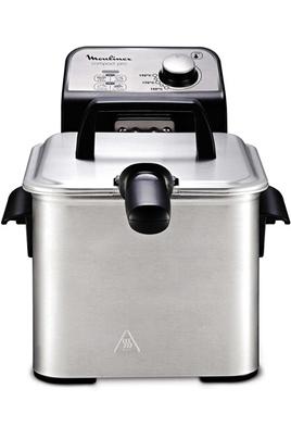 Capacité 2 litres - 600 g de frites fraîches Thermostat réglable de 150 à 190° Entièrement démontable pour un nettoyage facilité Panneau de commande en métal