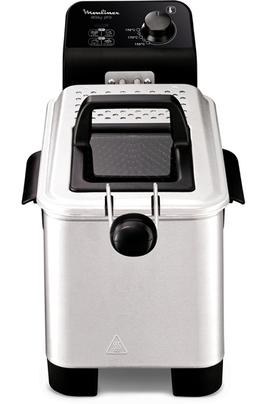 Capacité huile 3 litres - Capacité frites fraîches 1,2 kg Thermostat réglable de 150 à 190°C Démontable pour nettoyage facilité Résistance immergée avec zone froide