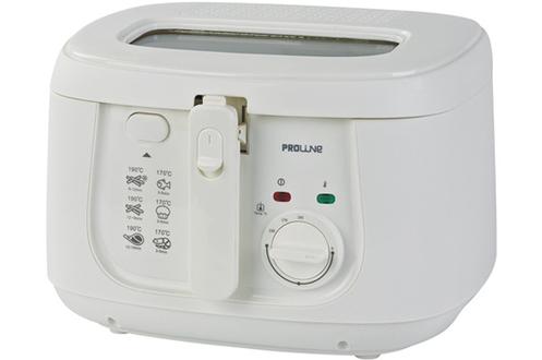 Capacité 2,5 litres d'huile Capacité 800 gr de frites fraîches Thermostat réglable jusqu'à 190°C Poignée rétractable