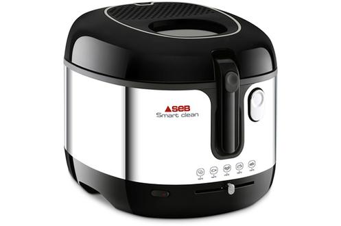 Capacité 2,5 litres - 1,3 kg de frites fraîches Cuve amovible avec revêtement anti-adhésif Thermostat réglable Filtre Carbonne régénérable amovible