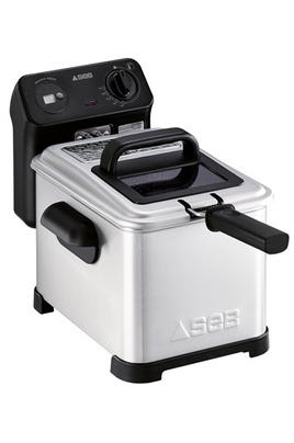 Capacité 3 litres - 1,2 kg de frites fraîches Thermostat réglable de 150 à 190°C Entièrement démontable - Zone froide Minuteur digitale