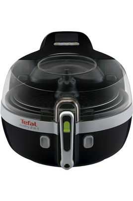 Capacité 1,5 kg / 1 cuillère d'huile Deux zones de cuisson - 4 programmes de cuisson Minuterie intelligente - Ecran digital LCD Application MyActifry disponible