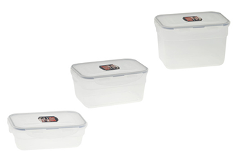 Boîte de rangement Set de 3 boites de conservation emboitables Lock & Lock