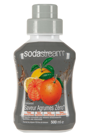 sirop et concentr sodastream concentre agrumes zero 500 ml darty. Black Bedroom Furniture Sets. Home Design Ideas