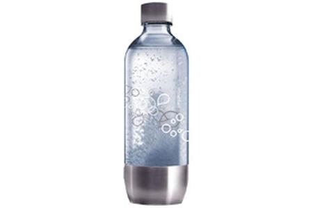 Accessoire machine à soda Sodastream BOUTEILLE PET 1L GRAND MODELE BASE METAL