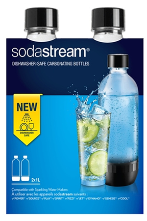 Accessoire machine à soda Sodastream Pack 2 Bouteilles de gazéification 1L