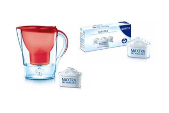 Carafe filtrante MARELLA ROUGE + cartouches filtrantes X3 Brita