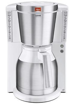 Cafetière filtre LOOK IV Therm Deluxe 1011-13 BLANC ACIER Melitta