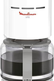 Cafetière filtre Moulinex FG121110 UNO GRIS BLANC