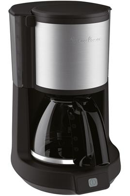 Capacité 1,25 litre - 10/15 tasses Porte filtre pivotant et amovible Système anti-gouttes - Niveau d'eau visible Arrêt automatique après 30 minutes