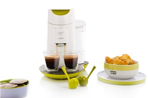 Cafetière à dosette Philips SENSEO TWIST HD7870/11 BLANC ANISé