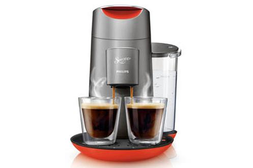 Cafetière à dosette Philips SENSEO TWIST HD7873/51 QUARTZ ROUGE