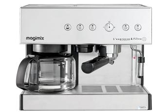 Combiné expresso cafetière 11423 CHROME MAT Magimix