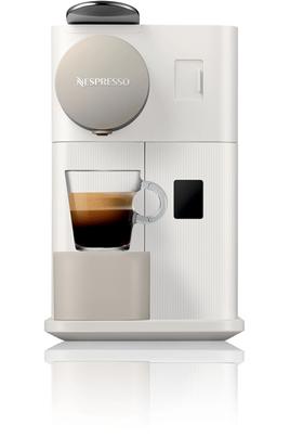 Expresso à capsules - Pression 19 bars Pot à lait intégré et amovible 3 recettes de café programmées Arrêt automatique - Égouttoir 2 en 1