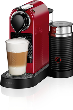 Expresso krups nespresso citiz and milk yy2730 rouge - Cafetiere a capsule nespresso ...