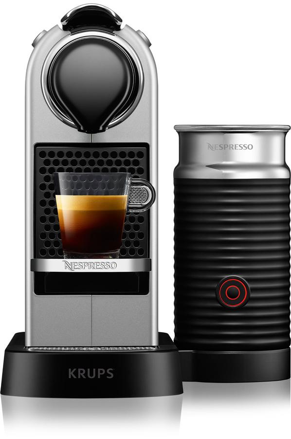 expresso krups nespresso citiz milk silver yy2732 4246004 darty. Black Bedroom Furniture Sets. Home Design Ideas