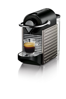 Expresso PIXIE NESPRESSO TITANE ELECTRIQUE YY1201FD Krups