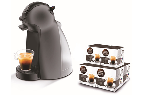 Expresso DOLCE GUSTO PICCOLO anthracite YY2795FD + 6 PACKS CAFé Krups b8331bac85ef