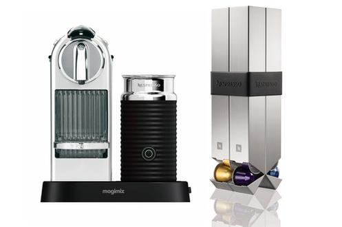 expresso nespresso citiz milk chrome 11307 porte. Black Bedroom Furniture Sets. Home Design Ideas