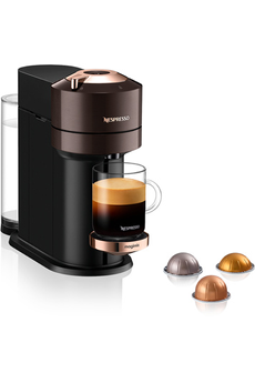 Cafetière à dosette ou capsule Magimix Nespresso Vertuo Next Premium Marron 1,1L Finitions chromées