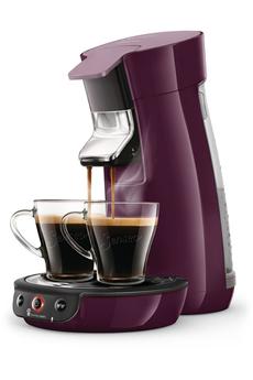 Cafetière à dosette ou capsule Philips SENSEO VIVA CAFE HD6563/91 Lilas intense