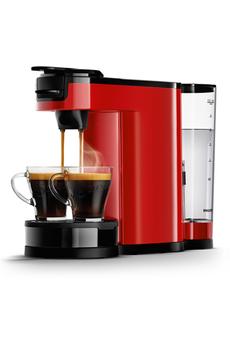 Cafetière à dosette ou capsule Philips SENSEO SWITCH HD6592/81 ROUGE
