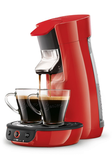 Cafetière à dosette SENSEO VIVA CAFE HD7829/83 ROUGE Philips